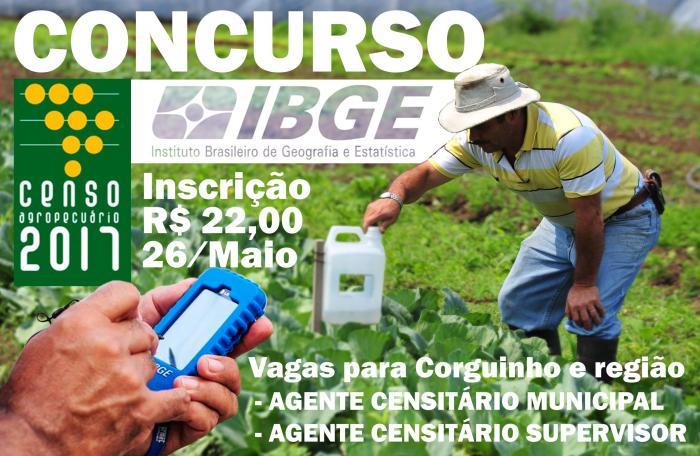 Concurso IBGE - Censo Agropecuário 2017